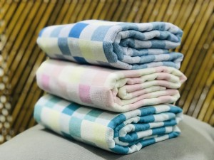 Handtuch 2Ply Cotton Check Towels